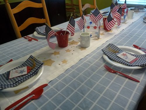 Resized patriotic table