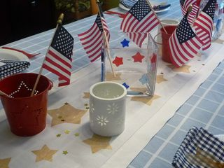 Resized patriotic table close