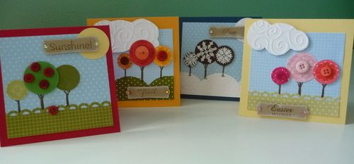 Cseasonal trees card set