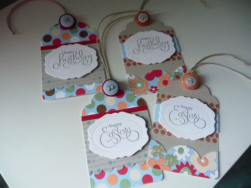 Bday, easter tags