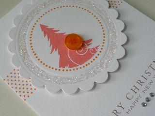 Glitter Circle Tree Card cl