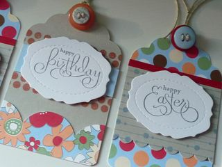 Bday, easter tags cr
