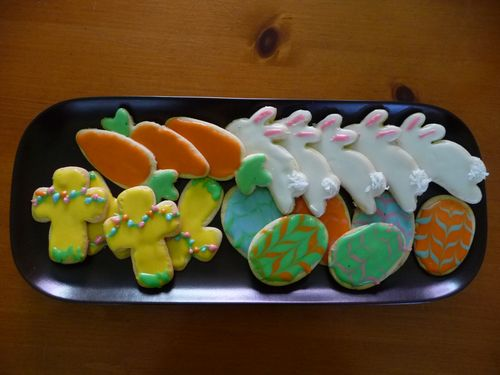 Easter cookies tray