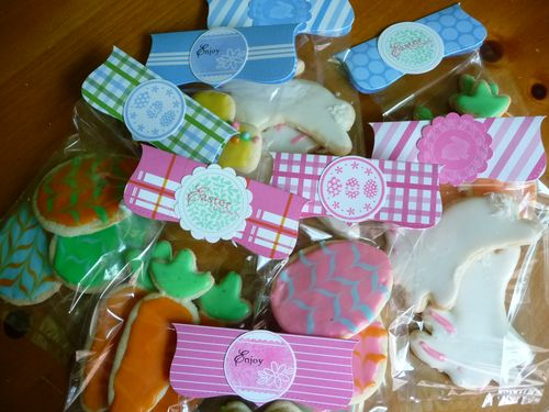 Easter cookies packaged