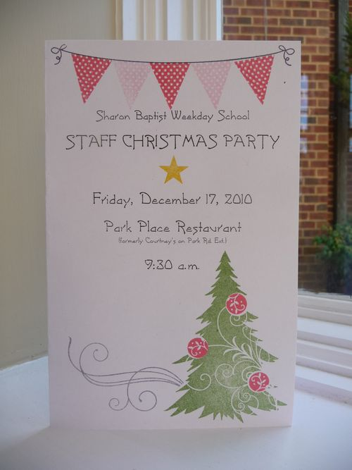 Staff Party Invite 2010