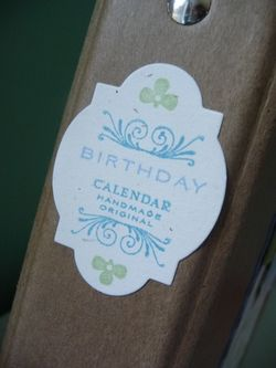 Mom Card Calendar spine