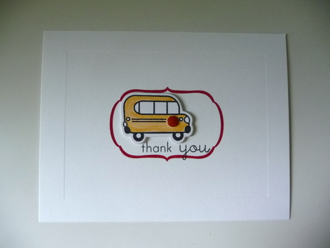 Easy thank you copic bus