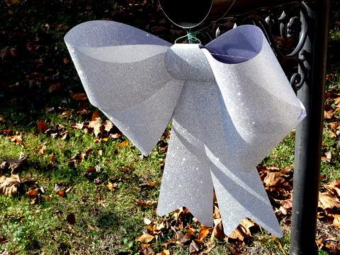 Glittery bow