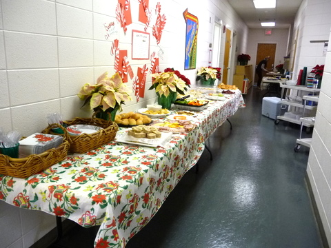 Christmas Lunch from weekday school parents