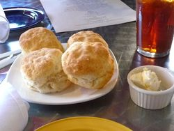 Birthday dinner biscuits