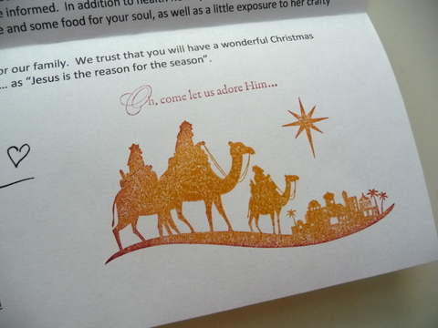 Christmas Letter with sentiment l