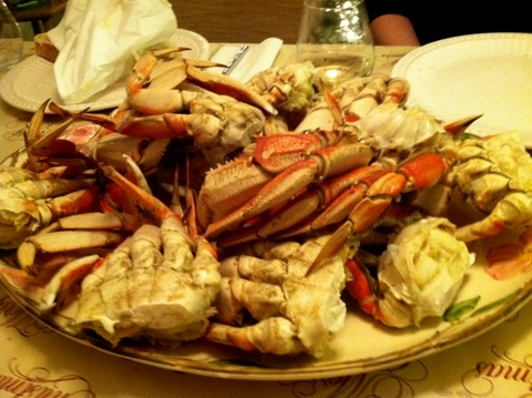 Christmas Eve crab legs with the Smithsons