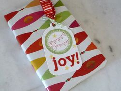 Happy happy joy tag on gift l