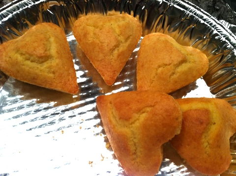 Heart cornbread from Houstons